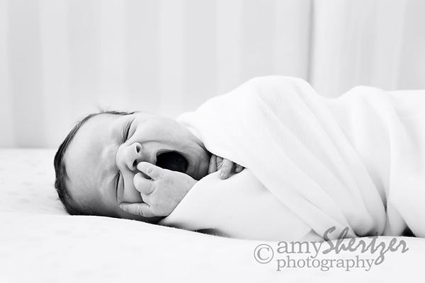 Sleepy newborn Bozeman baby can