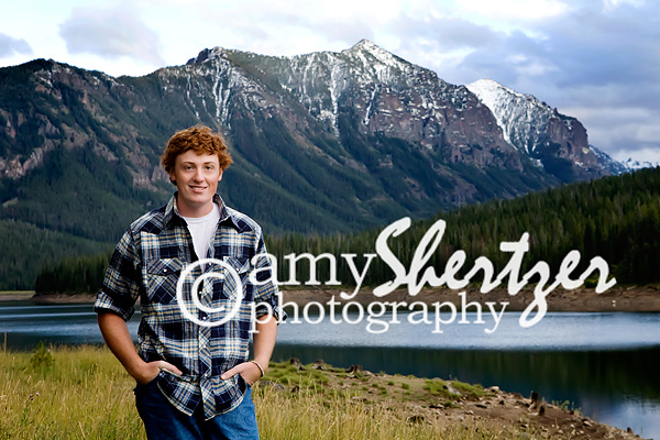 Bozeman high school senior portrait at Hyalite Resevoir