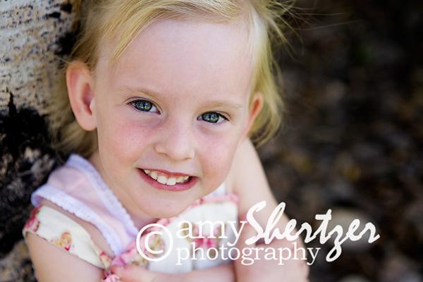 Bozeman preschool photo of a cute blong girl