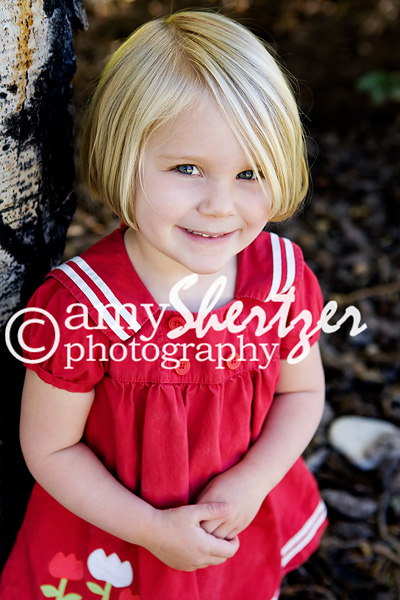 Bozeman preschool girl looks sweet in her red dress