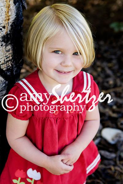 Bozeman preschool girl looks sweet in her red dress