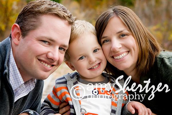 Bozeman family of three smiles for a portrait f2b2409e6