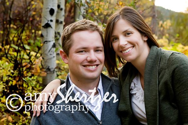A Bozeman couple smile in a fall photograph