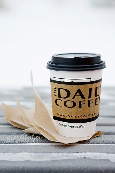 A cup of coffee from The Daily in Bozeman is perfect on a gray, cloudy day.
