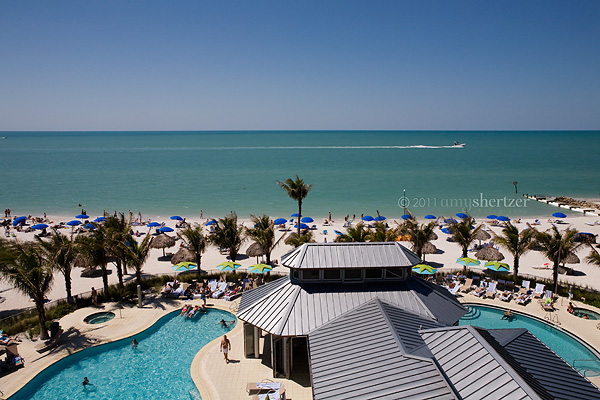 The Naples Beach Hotel has a fabulous pool overlooking the Gulf of Mexico.