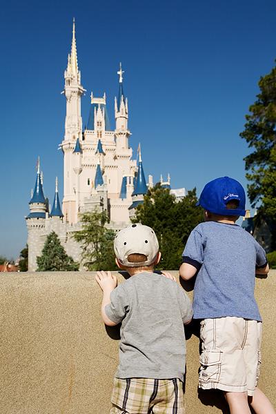 Two boys gaze at Cinderella