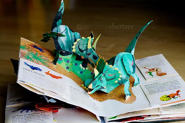 Pop-up Triceratops