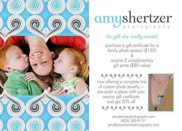 Buy your mom a gift certificate for a photo session for Mother