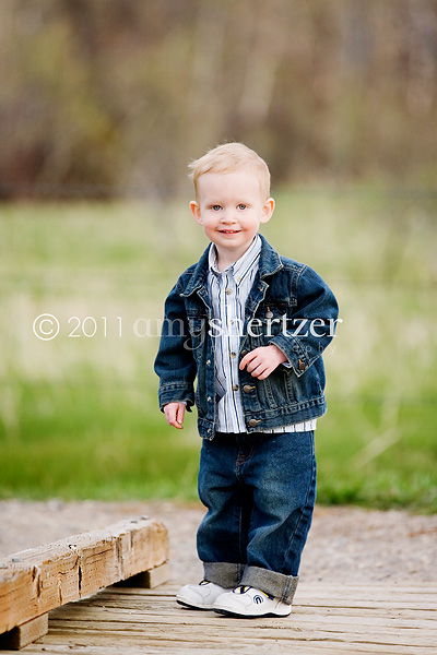 A 2-year-old portrait in Bozeman.