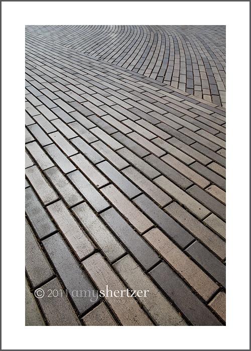 Brick pavers create interesting lines.